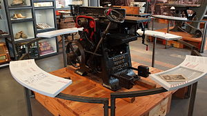 Edouard Mennig - Woodworking machine by Edouard Mennig exhibited at La Fonderie, Brussels Museum of Industry and Labour