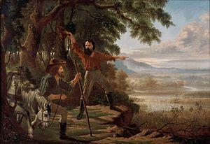 Flinders River - Image: Edward Jukes Greig Arrival of Burke & Wills at Flinders River, 1862
