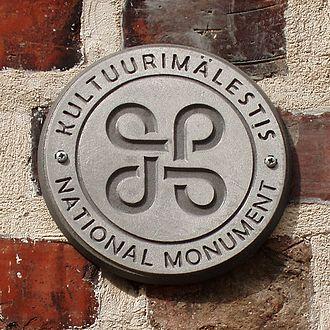 Looped square - Image: Eesti kultuurimälestis