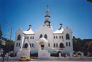 Die Kirche der Niederländisch-reformierten Kirche im Stadtzentrum