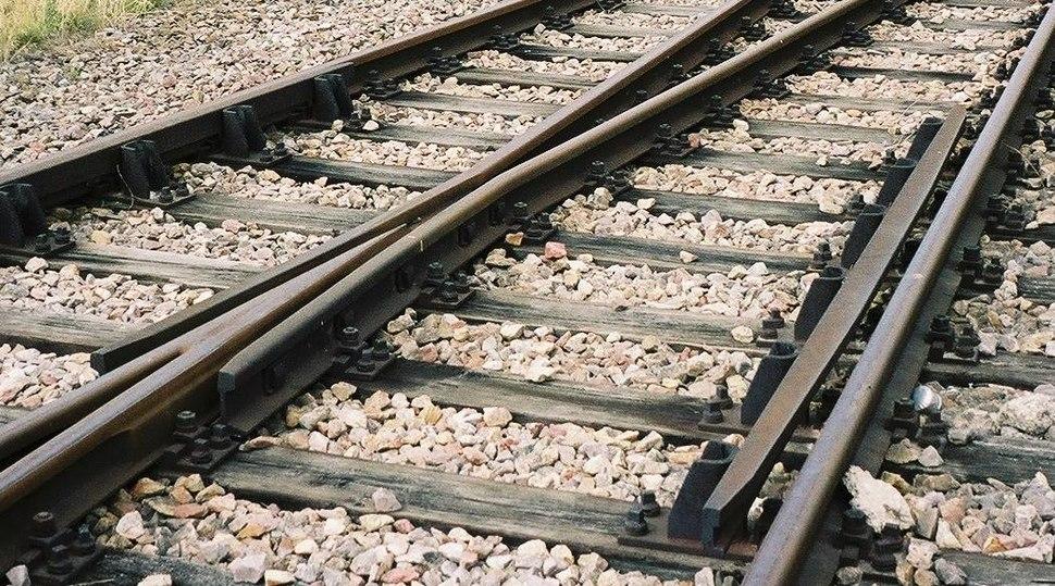 Eisenbahnweiche detail