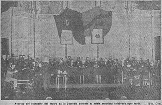 Maurism - Maurist meeting in the Teatro de la Comedia, Madrid (March 1917).