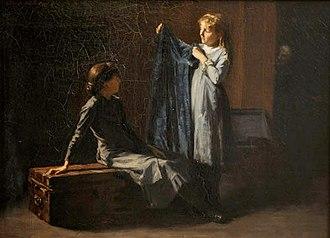 Elizabeth Coffin - Image: Elizabeth Rebecca Coffin, Grandmother's Garret, 1884 (retouched)