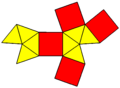 Elongated oblate octahedron net.png