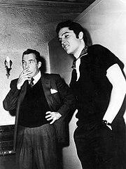 Ed Sullivan con Elvis, ottobre 1956