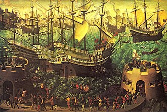John Giffard (died 1556) - The embarkation of Henry VIII in 1520. Giffard accompanied him on this expedition, during which he met both the French king and the Emperor.