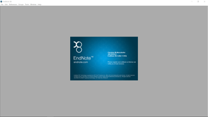 Endnote X8.2 running on Windows 10