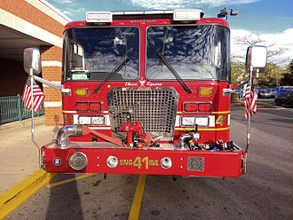 Allston - Engine 41 Boston Fire Department in Allston neighborhood (2015)