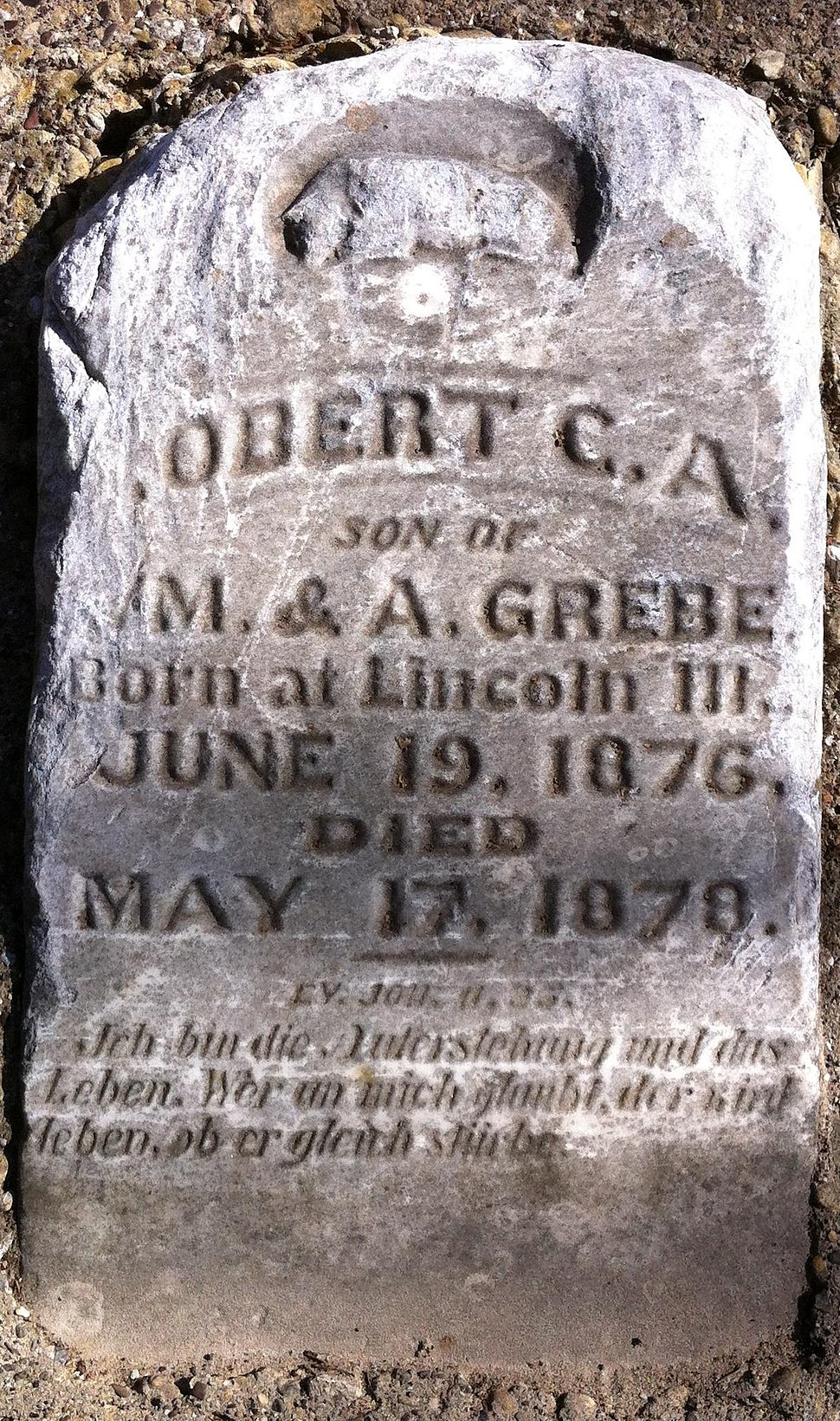 English-German tombstone in Texas