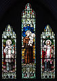 Enniskillen St. Michael's Church West Aisle Window 03 Saints Aloysius, Anthony, and Francis Xavier 2012 09 17.jpg