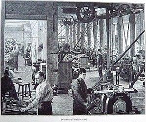 Joh. Enschedé - Image: Enschede men at work in Haarlem type foundry in 1892