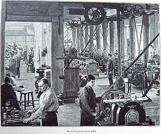 Joh. Enschedé - Image: Enschede men at work in Haarlem type foundry in 1892