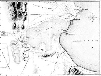 Cisterns of La Malga - Map of aqueduct ruins (1838)