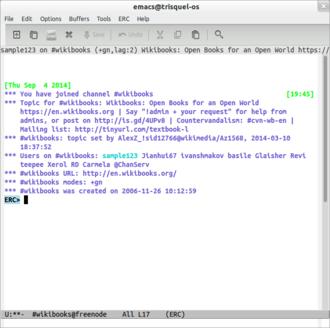 ERC (software) - Image: Erc screenshot