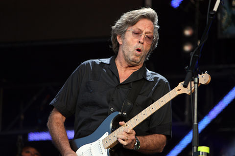 Eric Clapton performing at Hyde Park, London, in June 2008 Eric Clapton 2.jpg