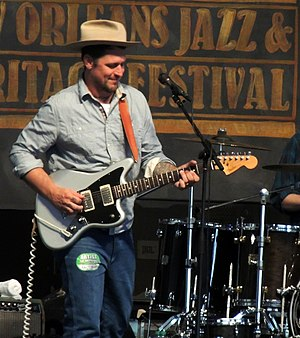 Eric Lindell - Lindell performing at Jazzfest in 2012