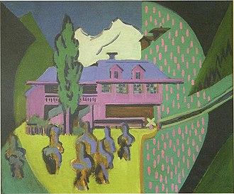 1938 in art - Image: Ernst Ludwig Kirchner Violettes Haus vor Schneeberg 1938