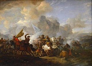 Escarmouche de cavaliers entre Orientaux et Impériaux