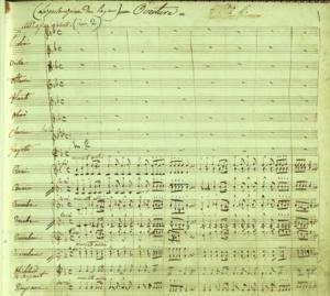 Teodulo Mabellini - Image: Eudossia e Paolo Ouverture Autografa di Mabellini