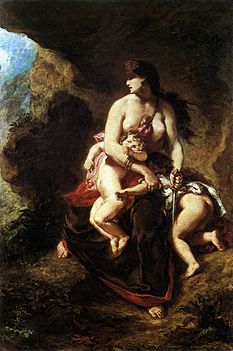 Eugène Delacroix - Medea about to Kill her Children - WGA6198.jpg