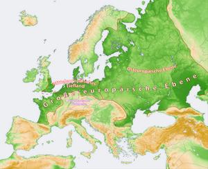 Map: Great European Plain with East European P...