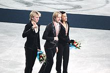 The 2012 medalists in the men's event