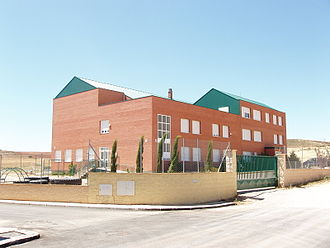 Evangelical Christian Academy (Madrid, Spain) - The Evangelical Christian Academy. The front of the building is on the right-hand side, behind the gate. One can see the school playground located on the left. The picture was taken on August 15, 2007, a few weeks before the beginning of the 2007 academic year.
