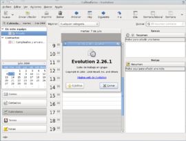 Screenshot di Evolution (software)