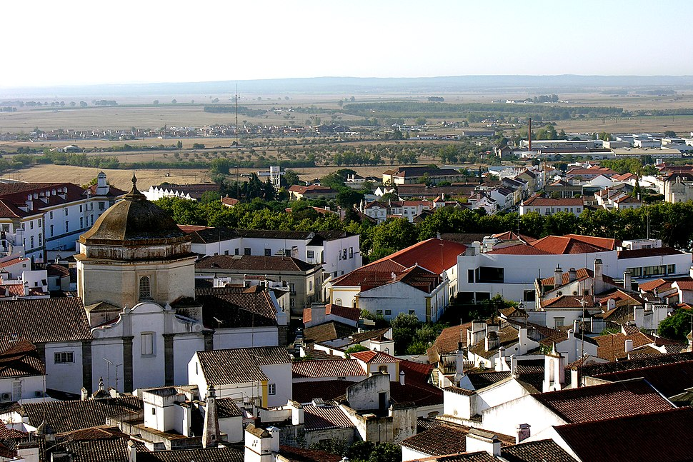 Evora, Alentejo, Portugal from the cathedral roof, 28 September 2005