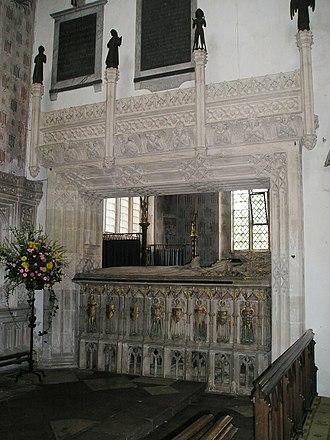 Alice Chaucer, Duchess of Suffolk - Monument (north side) to Alice Chaucer, Duchess of Suffolk, St Mary's Church, Ewelme