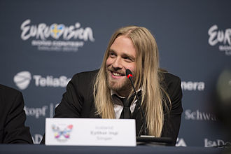 Iceland in the Eurovision Song Contest 2013 - Eythor Ingi at the Eurovision Press Conference in Malmö.
