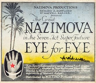 Metro Pictures - Lobby card for Eye for Eye (1918)