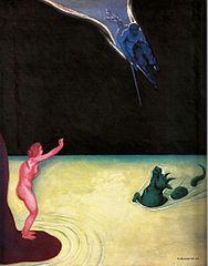 Andromède debout et Persée