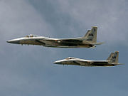 Two jets fly in formation