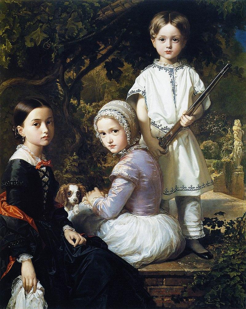 Ф. де Мадразо - 1845, Луиза, Роза и Раймундо, Хихос дель Пинтор (Colección особенно, Мадрид, 120 х 97 см) .jpg