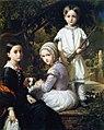 F. de Madrazo - 1845, Luisa, Rosa y Raimundo, hijos del pintor (Colección particular, Madrid, 120 x 97 cm).jpg