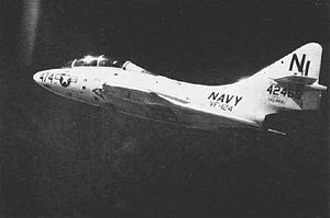 VF-124 - An F9F-8T Cougar from VF-124 in 1959.