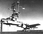 FM-1 Wildcat takes off from USS Kasaan Bay (CVE-69) 1944.jpg