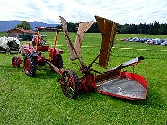 Reaper - Typical 20th century reaper, a tractor-drawn Fahr machine