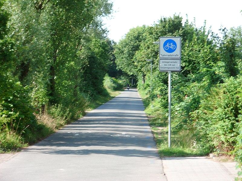 File:Fahrradstraße im Verlauf des Loops in Hamburg-Wilhelmsburg.JPG