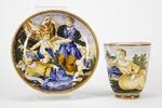Fajans, kopp med fat, 1600-tal - Hallwylska museet - 90387.tif