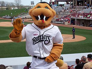 Wisconsin Timber Rattlers - Fang, mascot of the Wisconsin Timber Rattlers