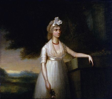 "Lady Nelson, Nelson's wife, formerly Frances ""Fanny"" Nisbet of the island of Nevis, West Indies. A painting of the British school; circa 1800, formerly attributed to Richard Cosway, from an earlier copy Fanny Nelson.jpg"