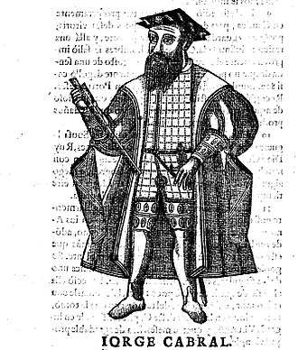 "Jorge Cabral - Portrait of Jorge Cabral from the ""Portuguese Asia"" by Manuel de Faria e Sousa, edition in Lisbon, 1674."