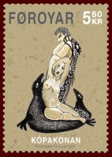 Faroese stamp 580 the seal woman.jpg