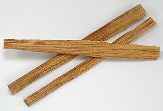 Fatwood - Slivers of fatwood, used for starting fires.