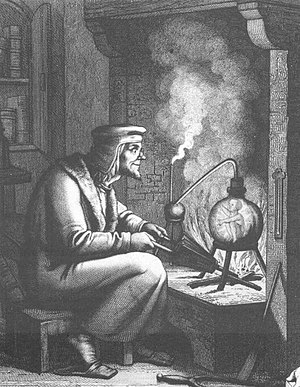 Homunculus - 19th-century engraving of Goethe's Faust and Homunculus