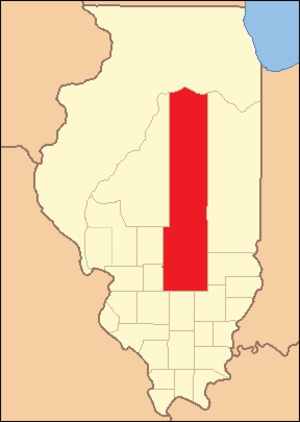 Fayette County, Illinois - Image: Fayette County Illinois 1821