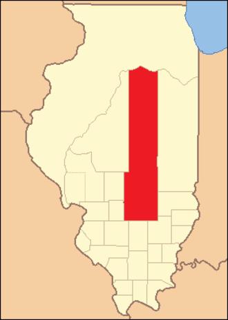 Fayette County, Illinois - Image: Fayette County Illinois 1821