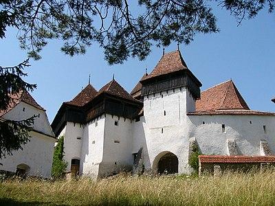 Fortified church of Viscri in Transylvania